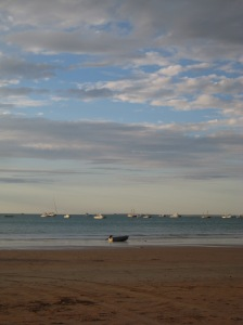 Broome beach and dinghy