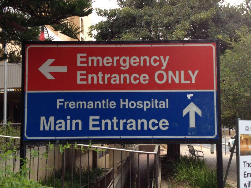 Fremantle Emergency sign
