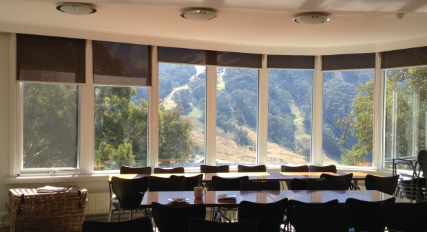 The view from the lodge at Thredbo.