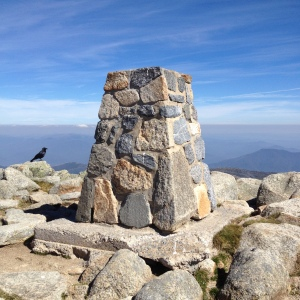 At the summit of Mount Kosciuszko.